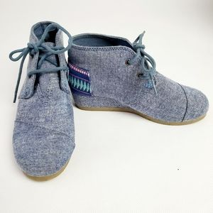 Tom's Desert Wedge Girls Youth 1 Lace Up Booties